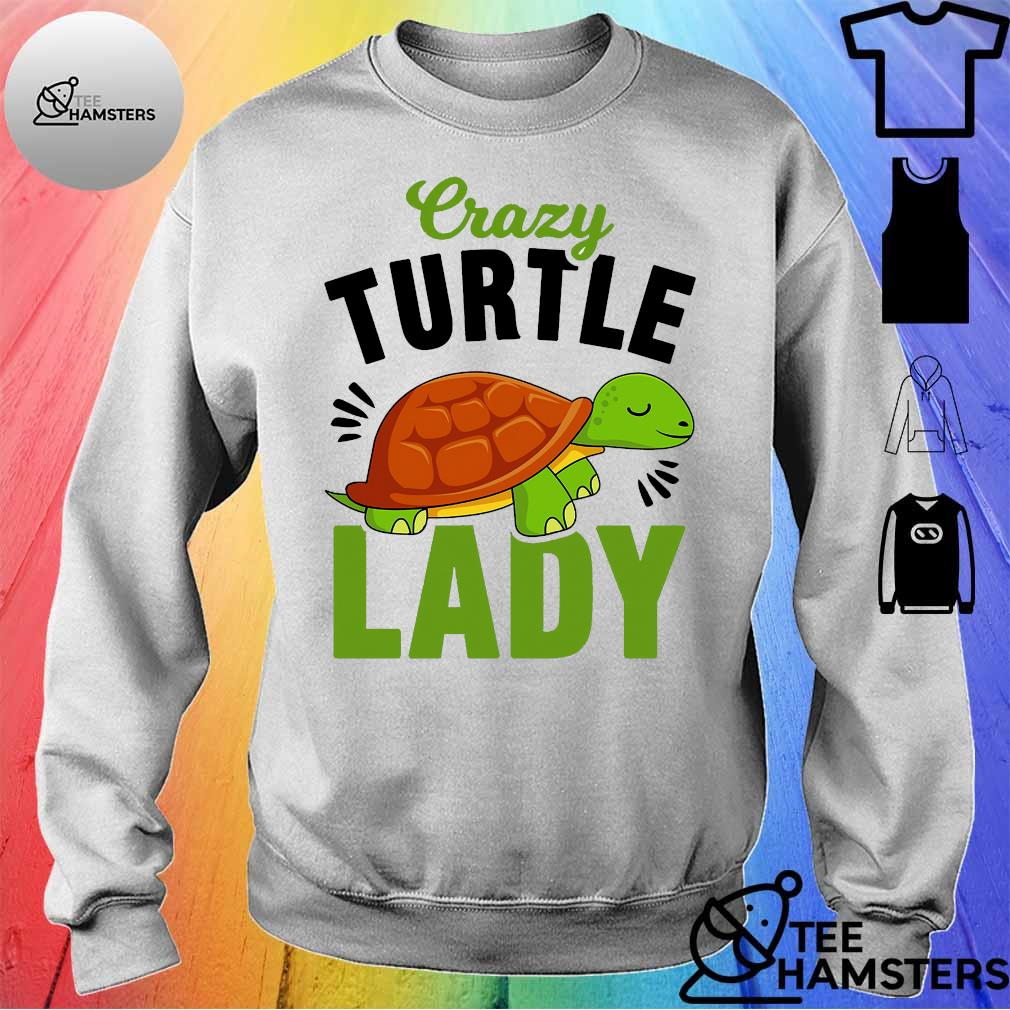 Crazy turtle lady s sweater