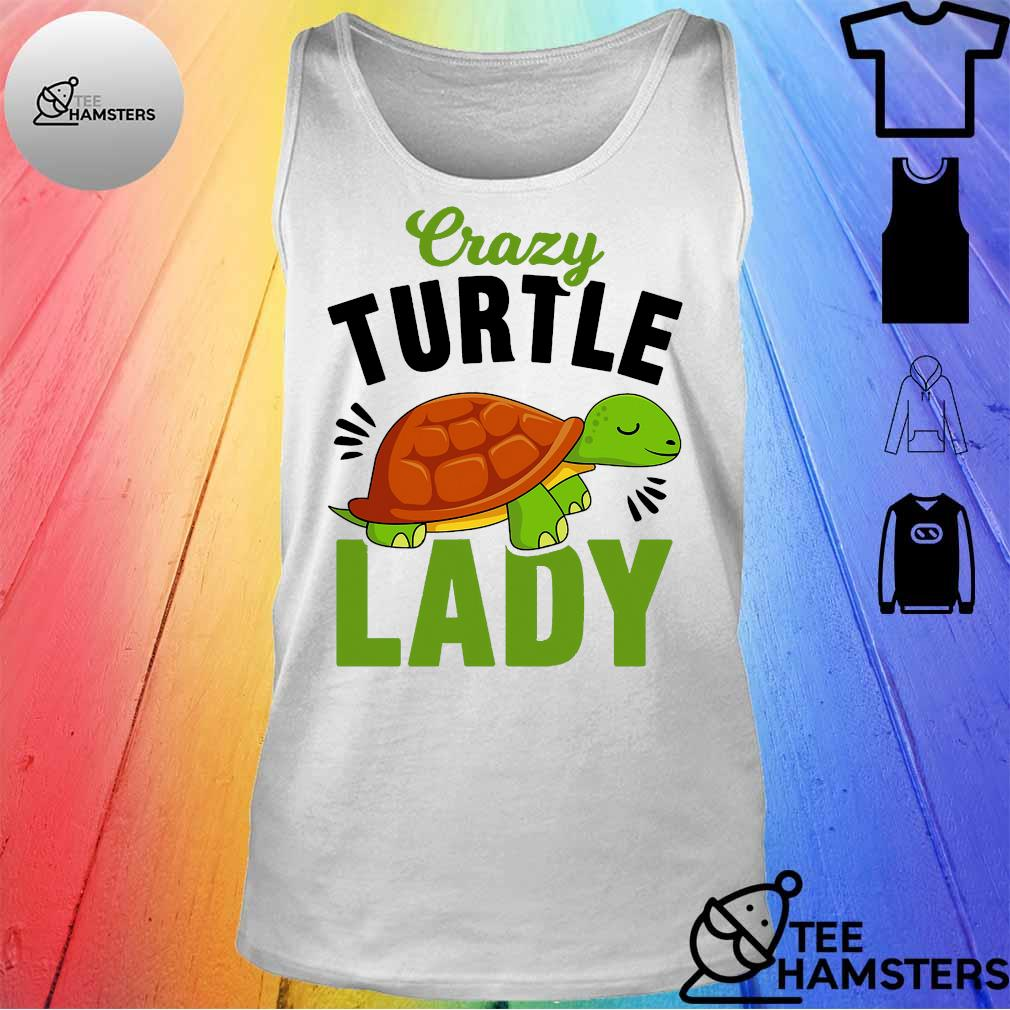 Crazy turtle lady s tank top