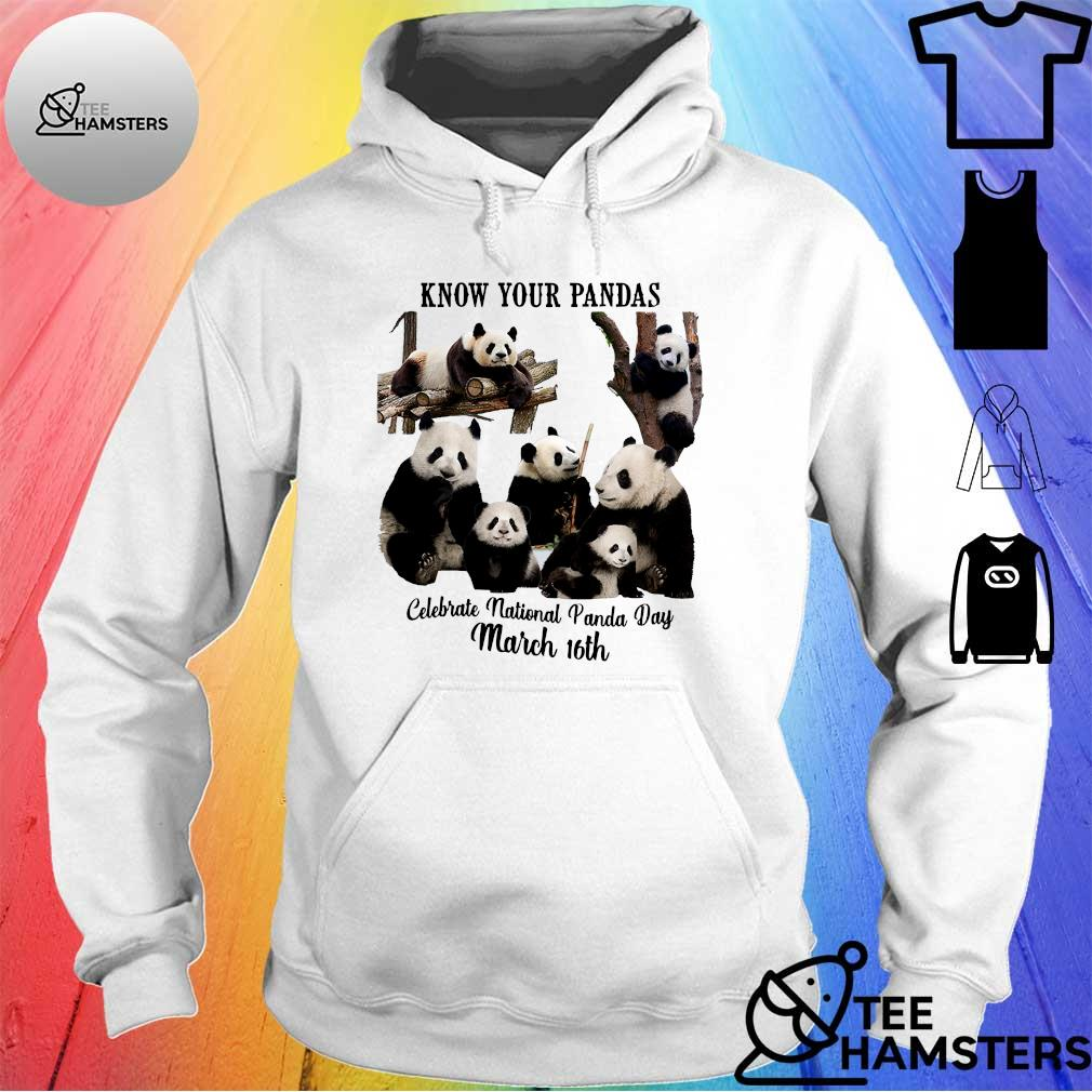 Know your pandas celebrate national panda day march 16th s hoodie