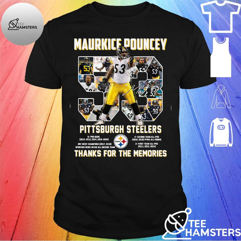 Maurkice Pouncey 53 Pittsburgh Steelers thank you the memories shirt