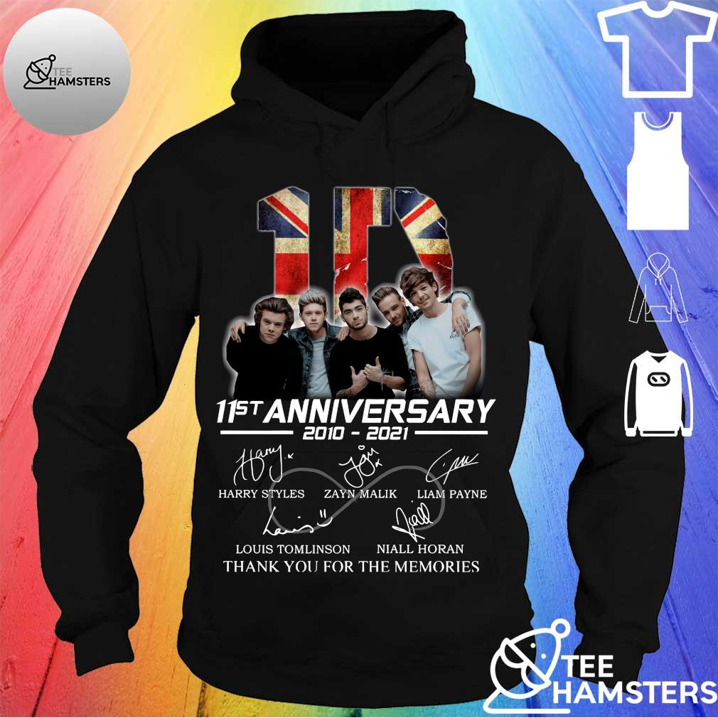 1D 11st Anniversary 2010 2021 Thank You For The Memories Signatures Shirt hoodie
