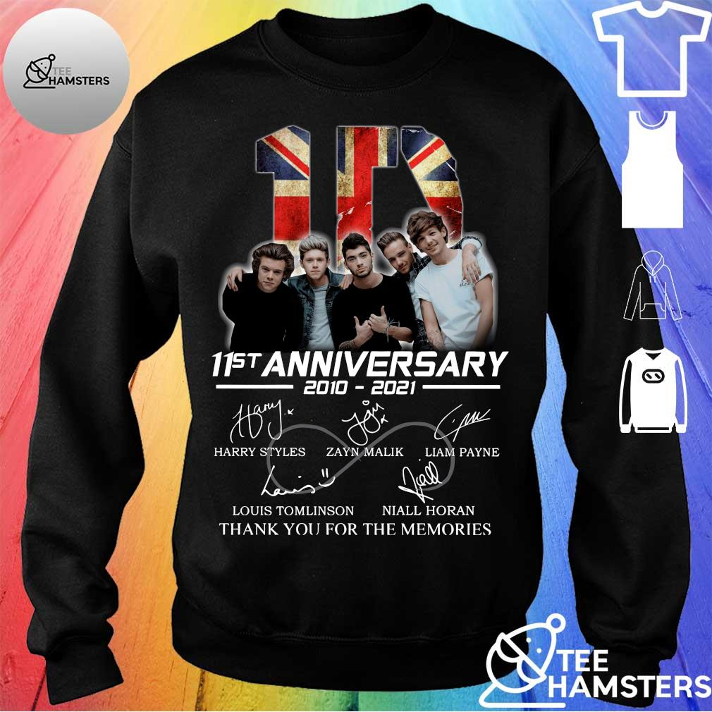 1D 11st Anniversary 2010 2021 Thank You For The Memories Signatures Shirt sweater