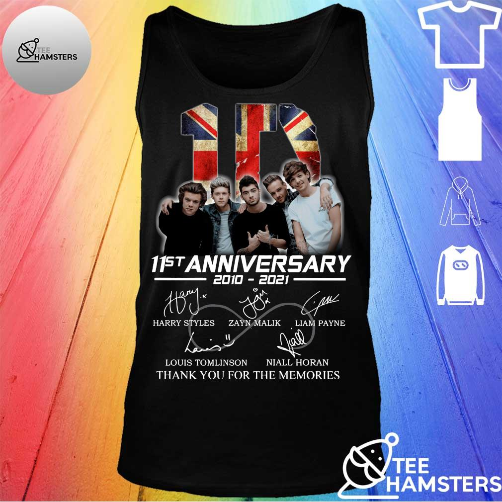 1D 11st Anniversary 2010 2021 Thank You For The Memories Signatures Shirt tank top