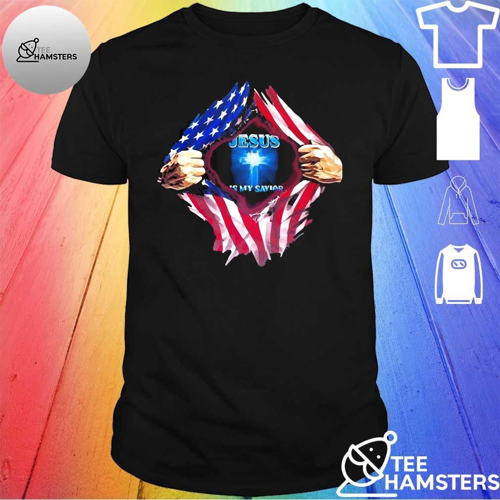 Blood Inside me American flag Jesus Is my savior shirt