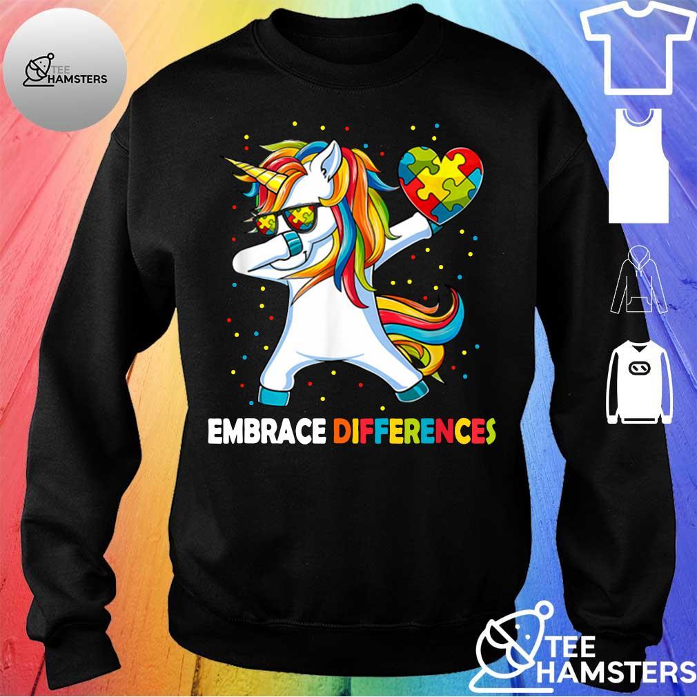 Dabbing Unicorn embrace different Autism sweater