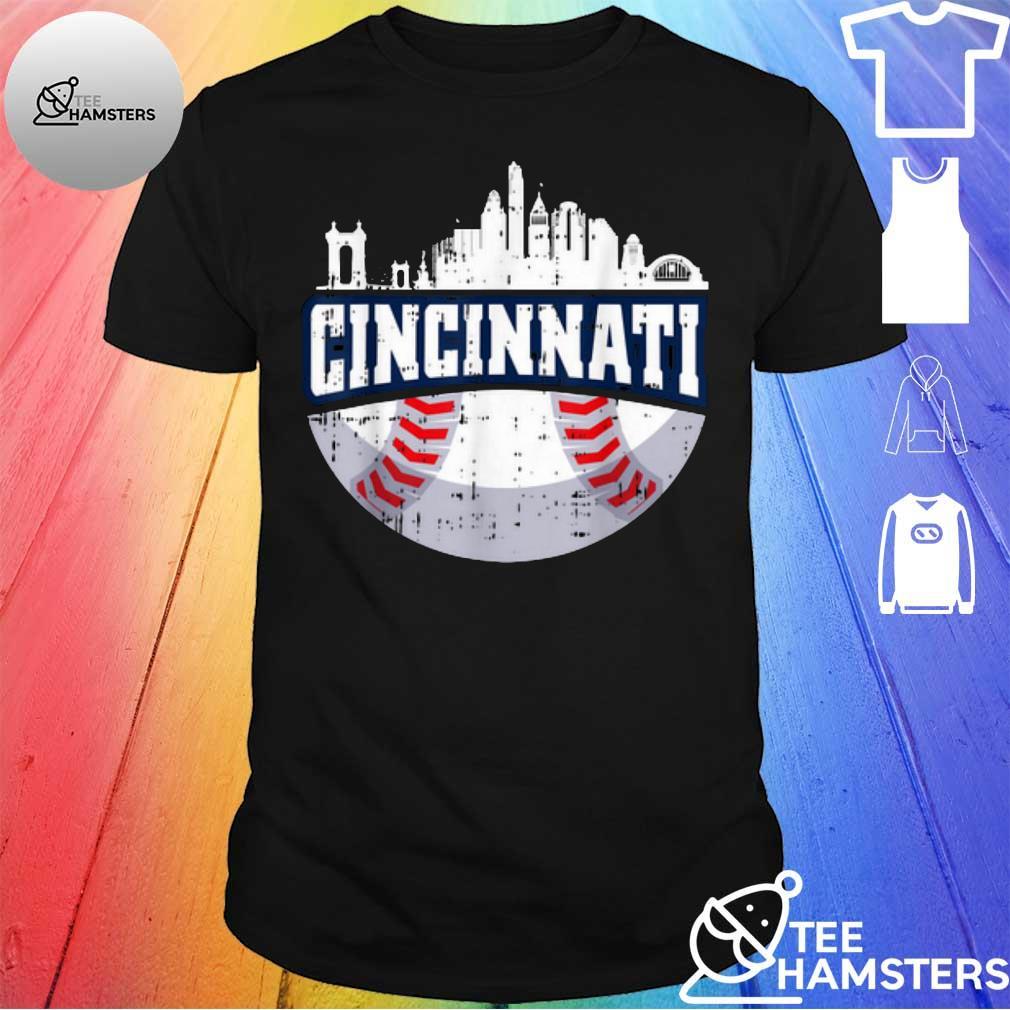Hot Cincinnati Baseball Skyline Ohio Baseball shirt