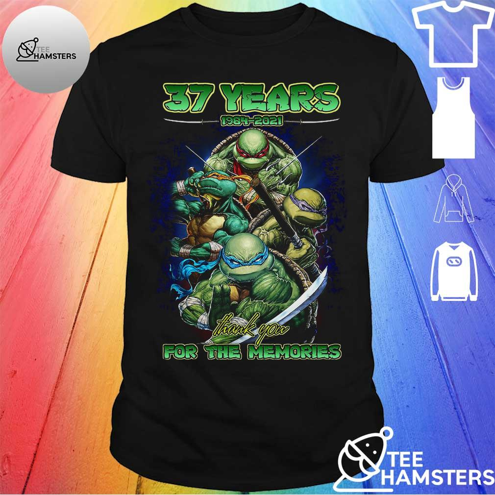 37 Years 1984 2021 Ninja Thank You For The Memories Shirt
