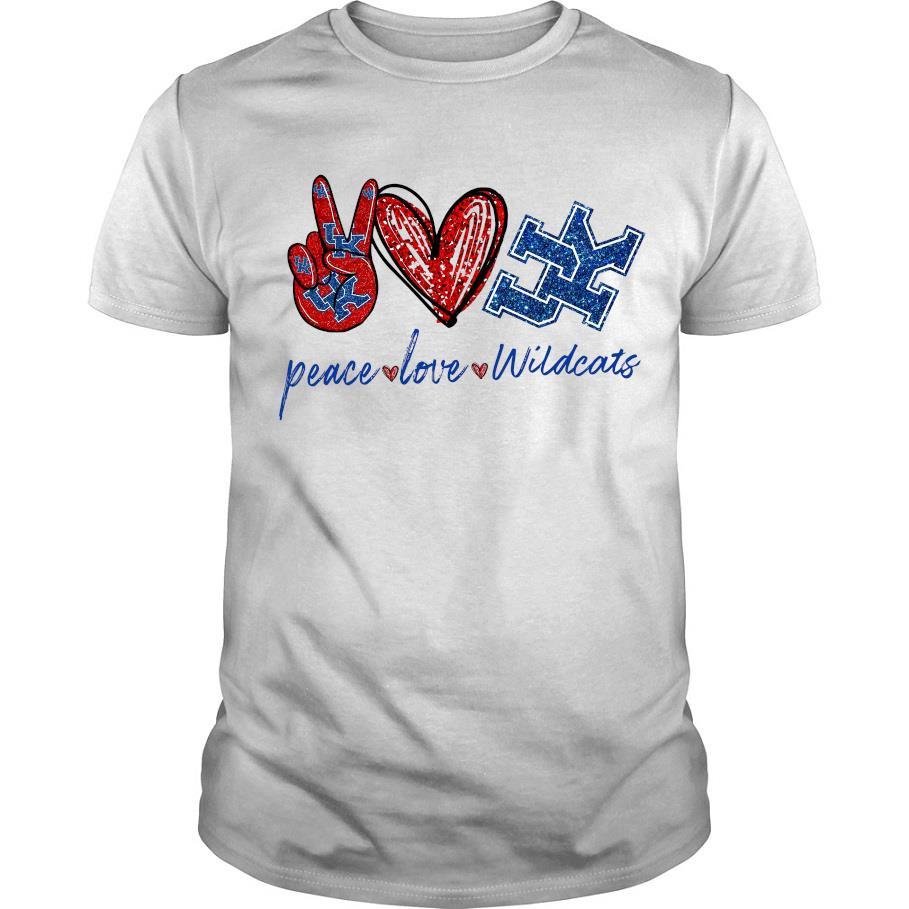 Diamond peace love Kentucky Wildcats shirt