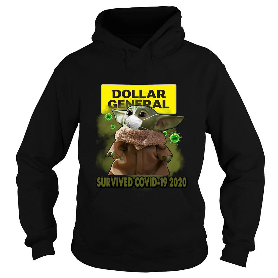 Dollar general Baby Yoda survived covid-19 2020 s -hoodie