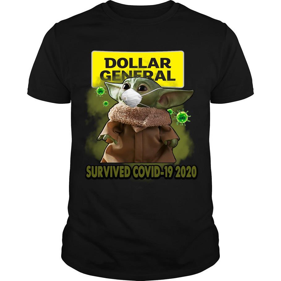 Dollar general Baby Yoda survived covid-19 2020 shirt