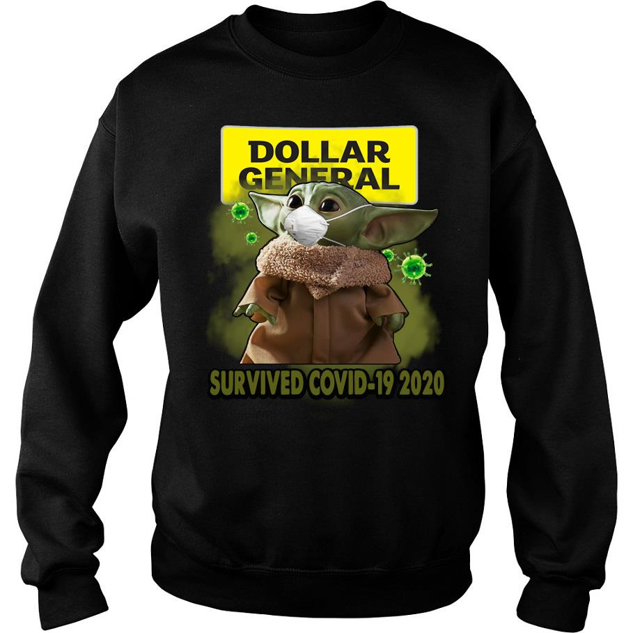 Dollar general Baby Yoda survived covid-19 2020 s -sweater
