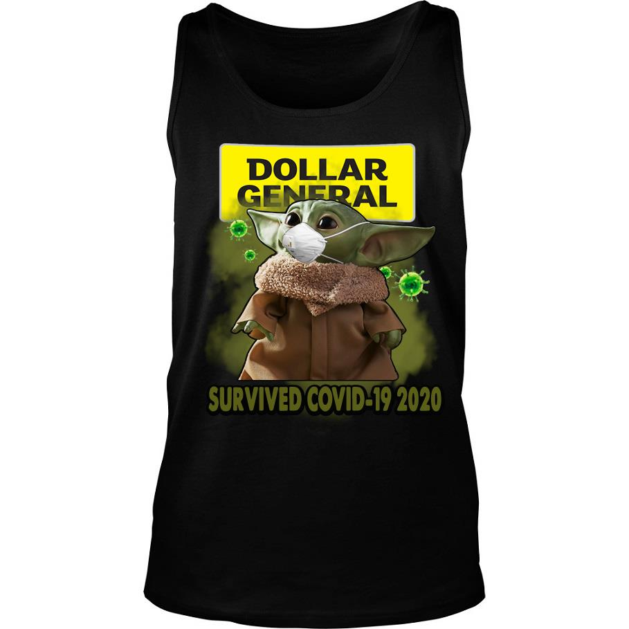 Dollar general Baby Yoda survived covid-19 2020 s -tank top