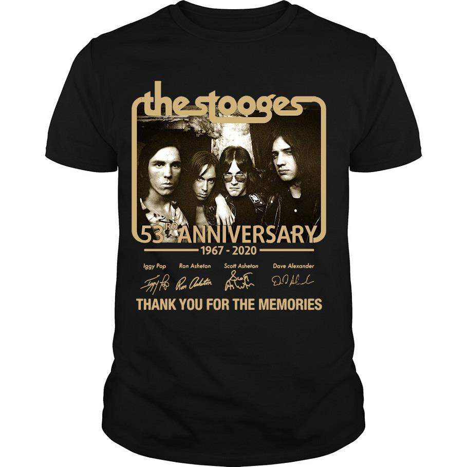 The Stooges 53rd anniversary 1967 2020 thank you for the memories shirt