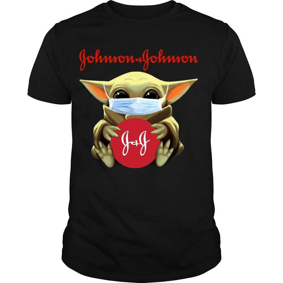 Baby Yoda Face mask hug Johnson & Johnson shirt