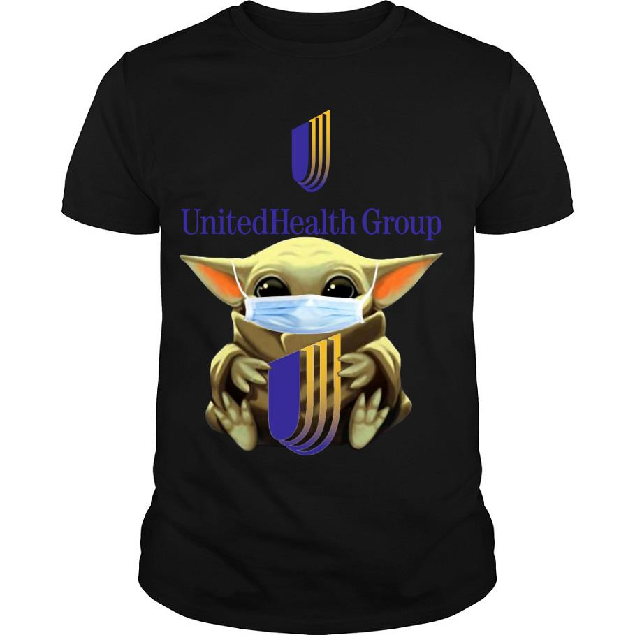 Baby Yoda Face mask hug Unitedhealth Group shirt