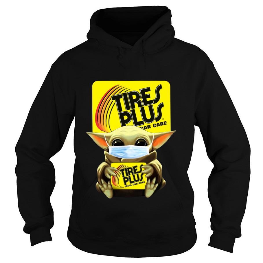 Baby Yoda Mask Hug Tires plus total car care s -hoodie