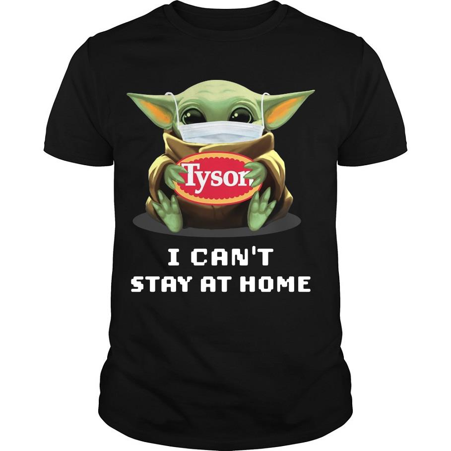Official Baby Yoda face mask hug Tison I can't stay at home shirt