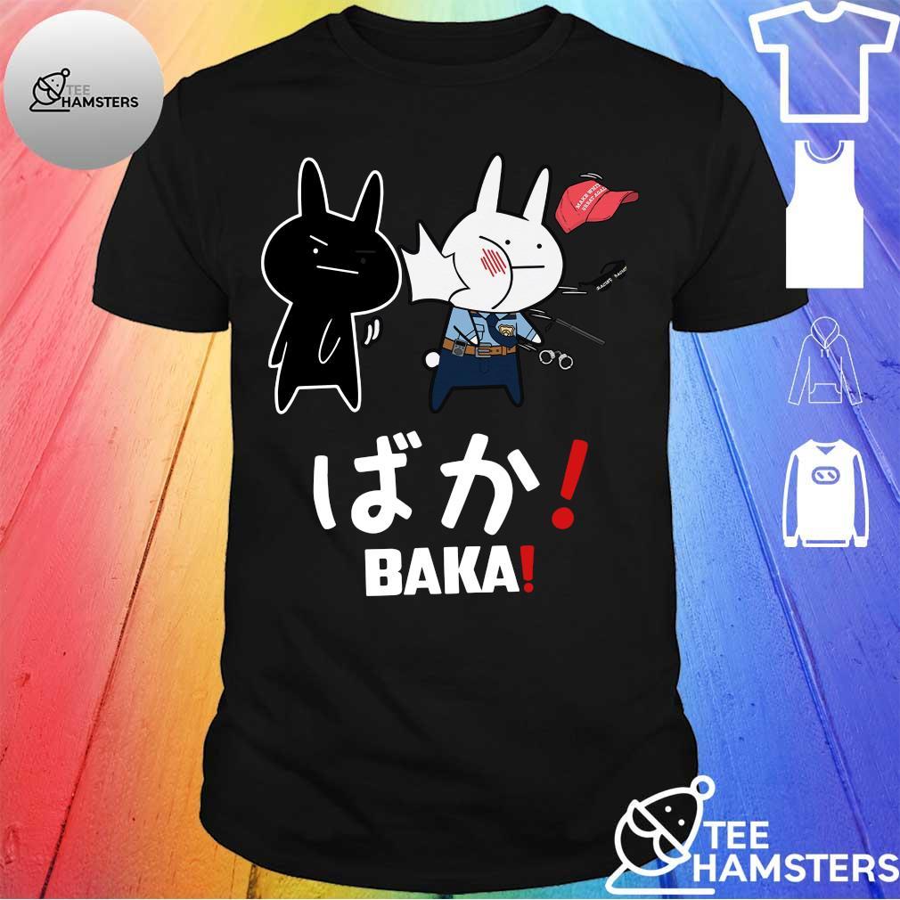Black slap white officer Baka Rabbit shirt