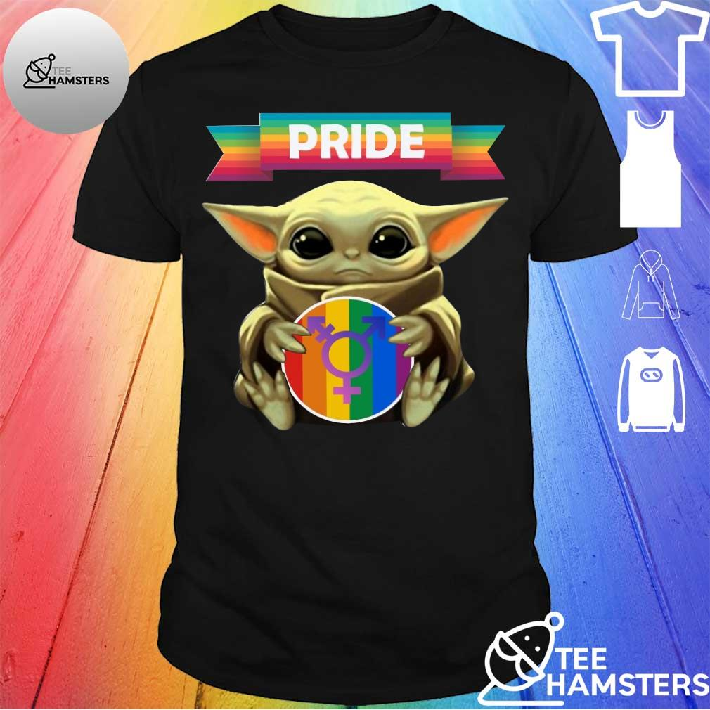 Baby Yoda hug sex logo pride shirt