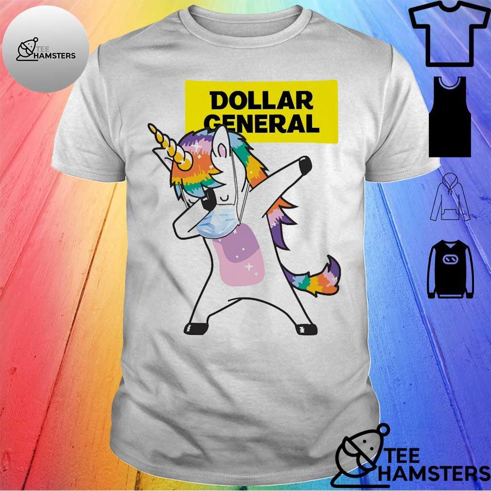 Dabbing Unicorn mask Dollar General logo Coronavirus Shirt