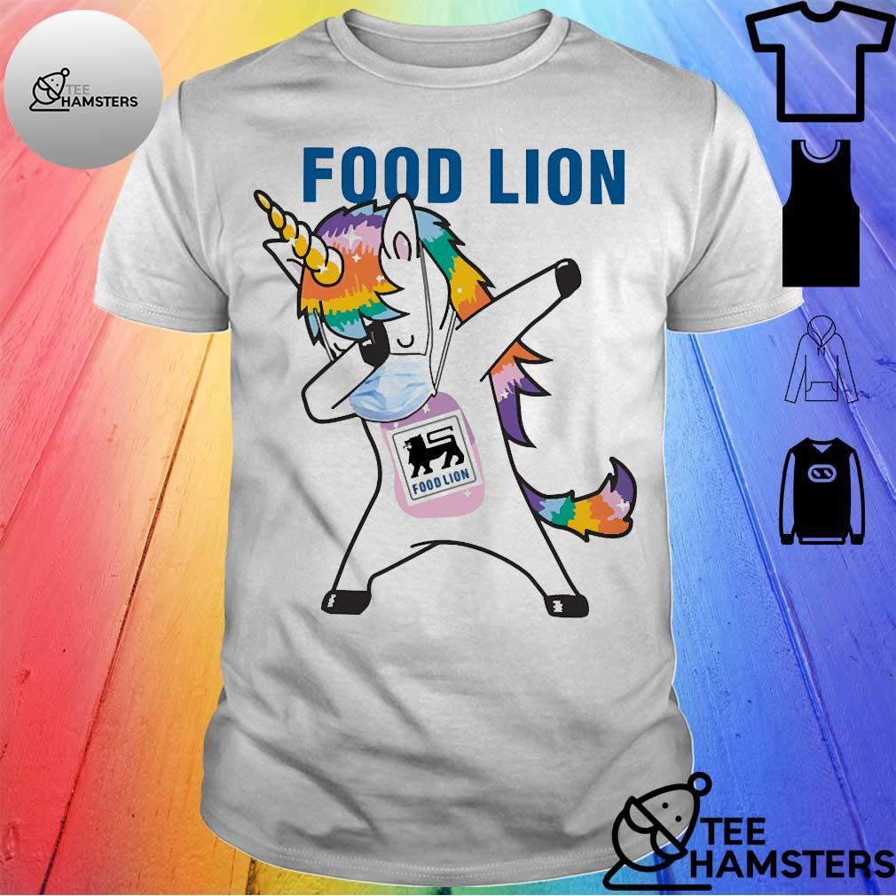 Dabbing Unicorn mask Food Lion logo Coronavirus Shirt