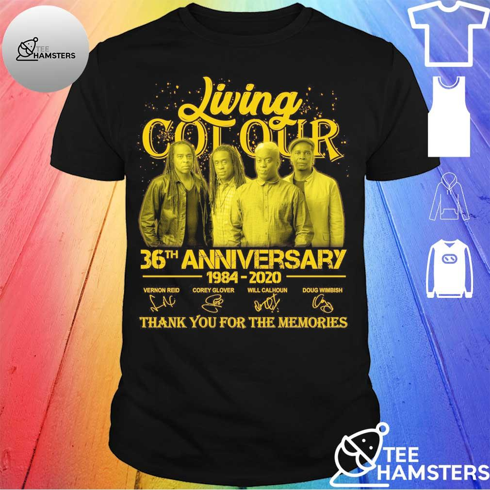 Living Cot Our 36th anniversary 1984 2020 thank You for the memories signatures Shirt