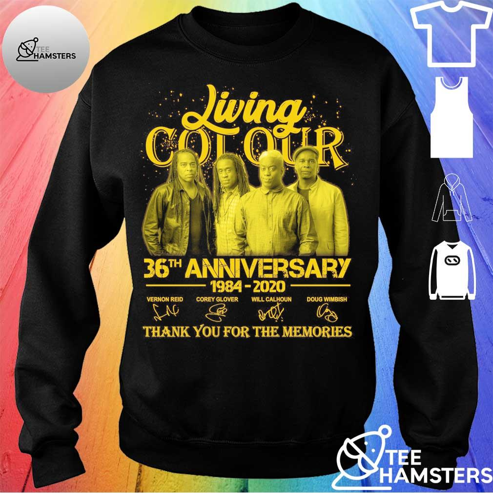 Living Cot Our 36th anniversary 1984 2020 thank You for the memories signatures Shirt sweater