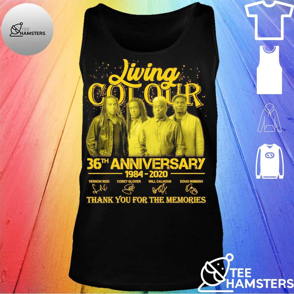 Living Cot Our 36th anniversary 1984 2020 thank You for the memories signatures Shirt tank top