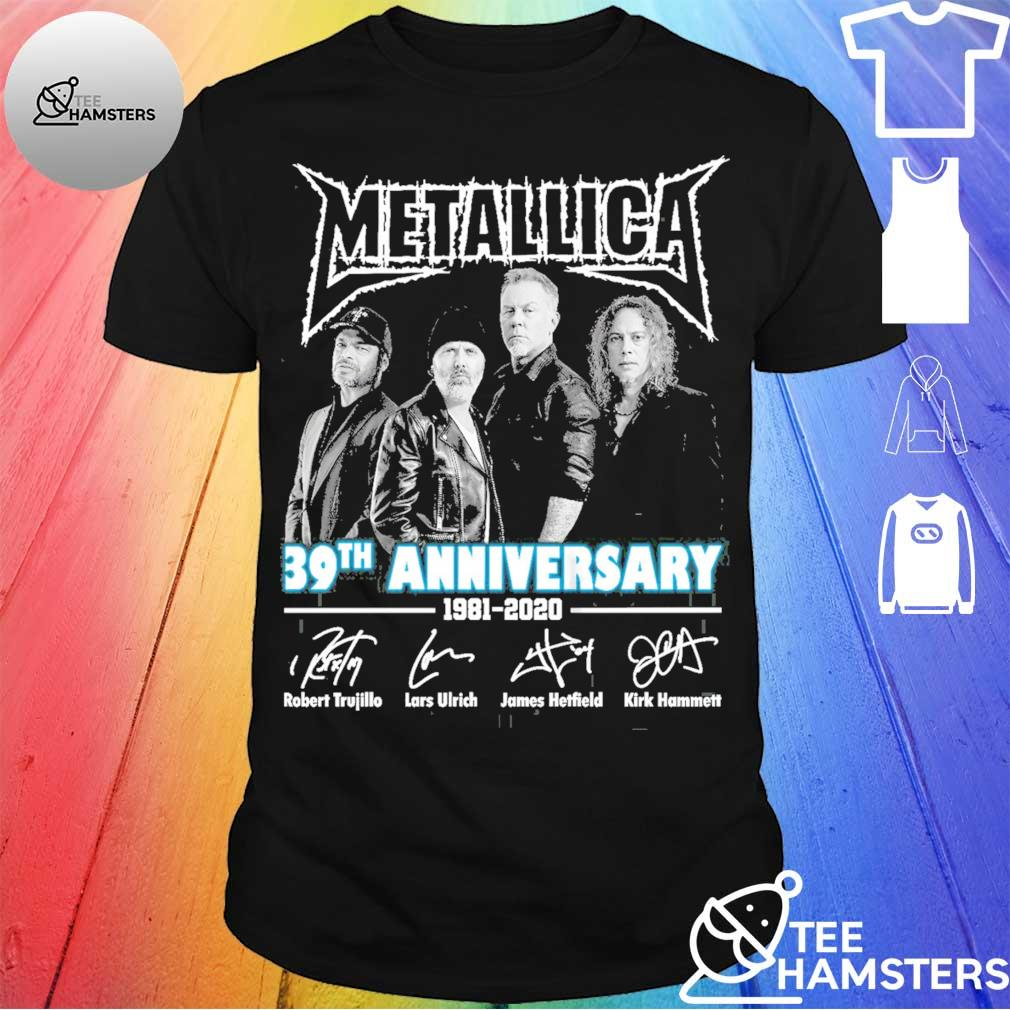 Metallica 39th anniversary 1981 2020 signatures shirt