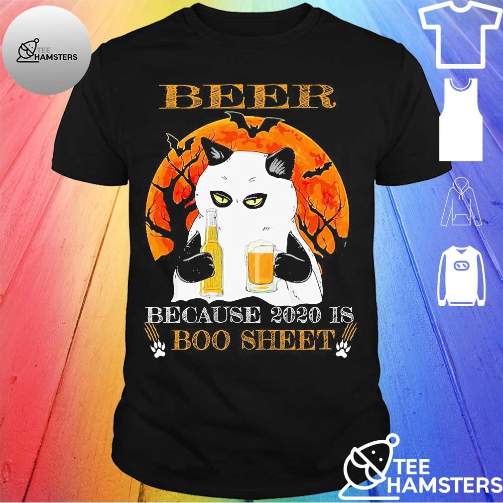 Cat Beer because 2020 is boo sheet shirt