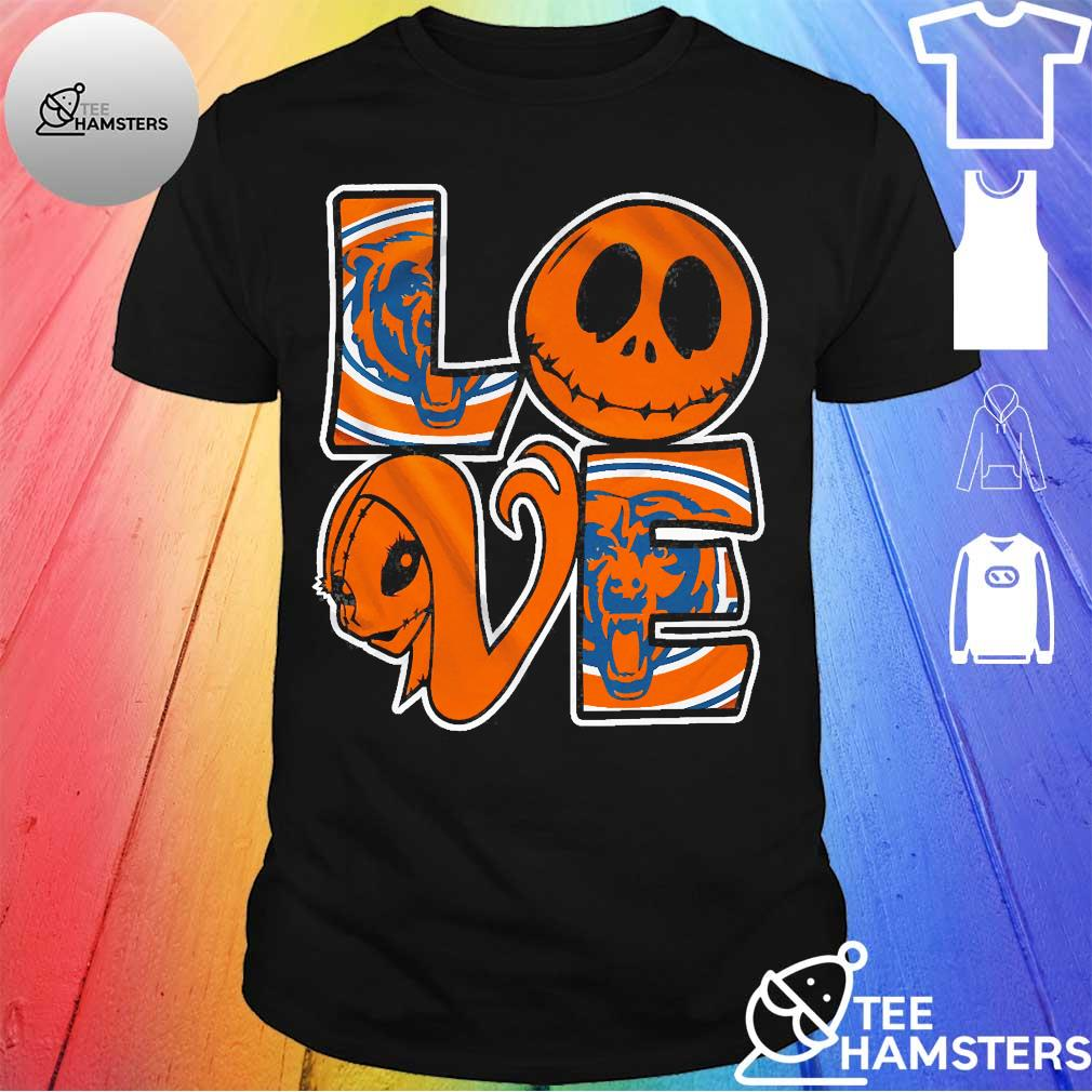 Chicago Bears Jack Skellington and Sally love shirt