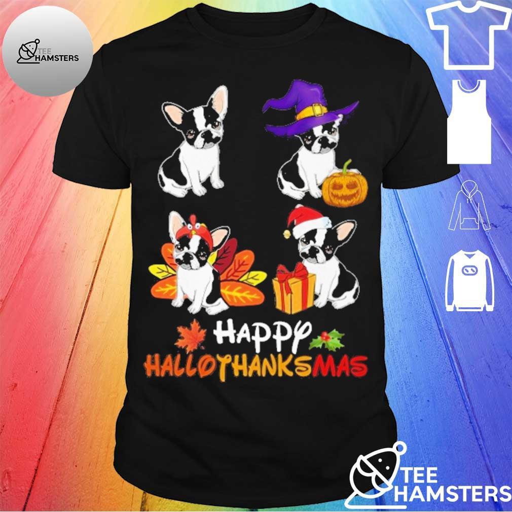 French Bulldog Retriever Happy Hallothanksmas shirt