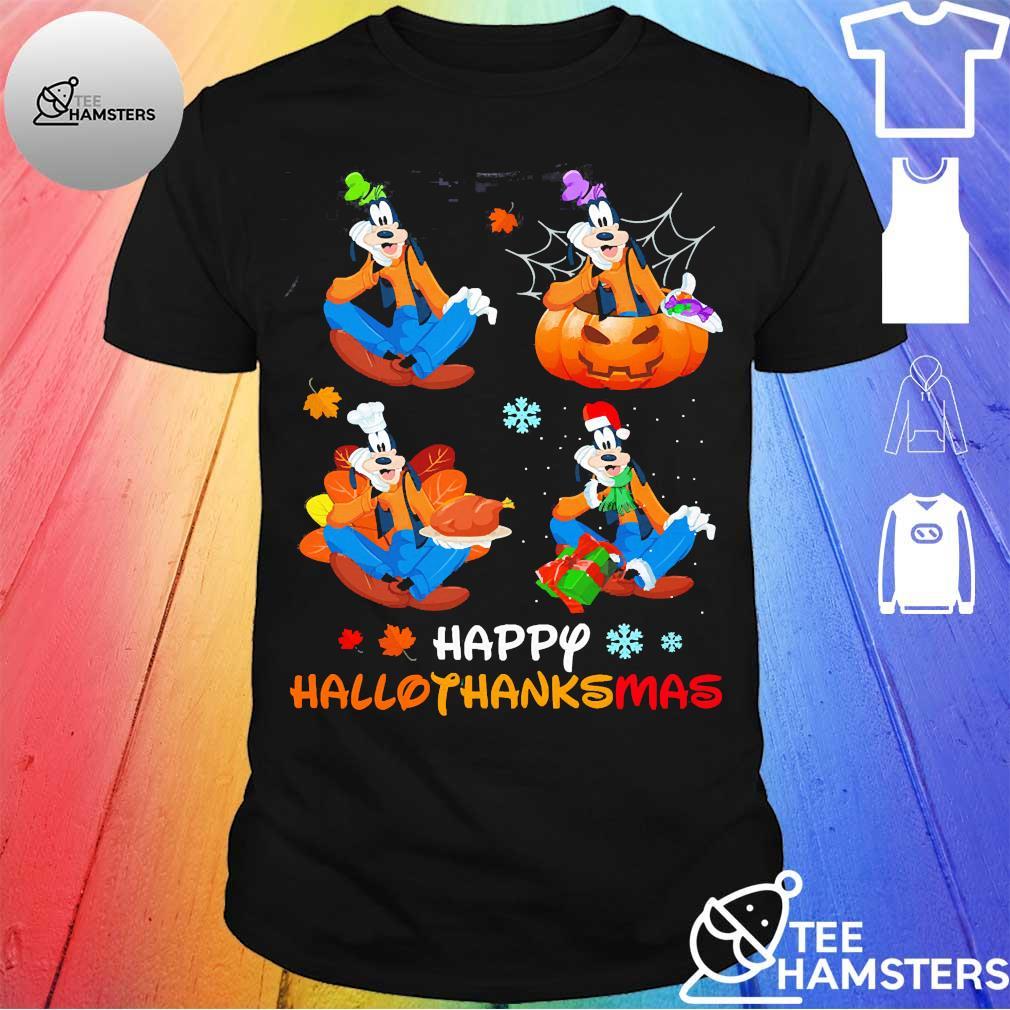 Goofy happy hallothanksmas shirt