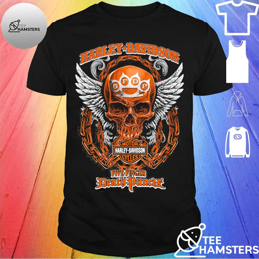 Skull Motor Harley Davidson Five Finger Death Duncalf shirt