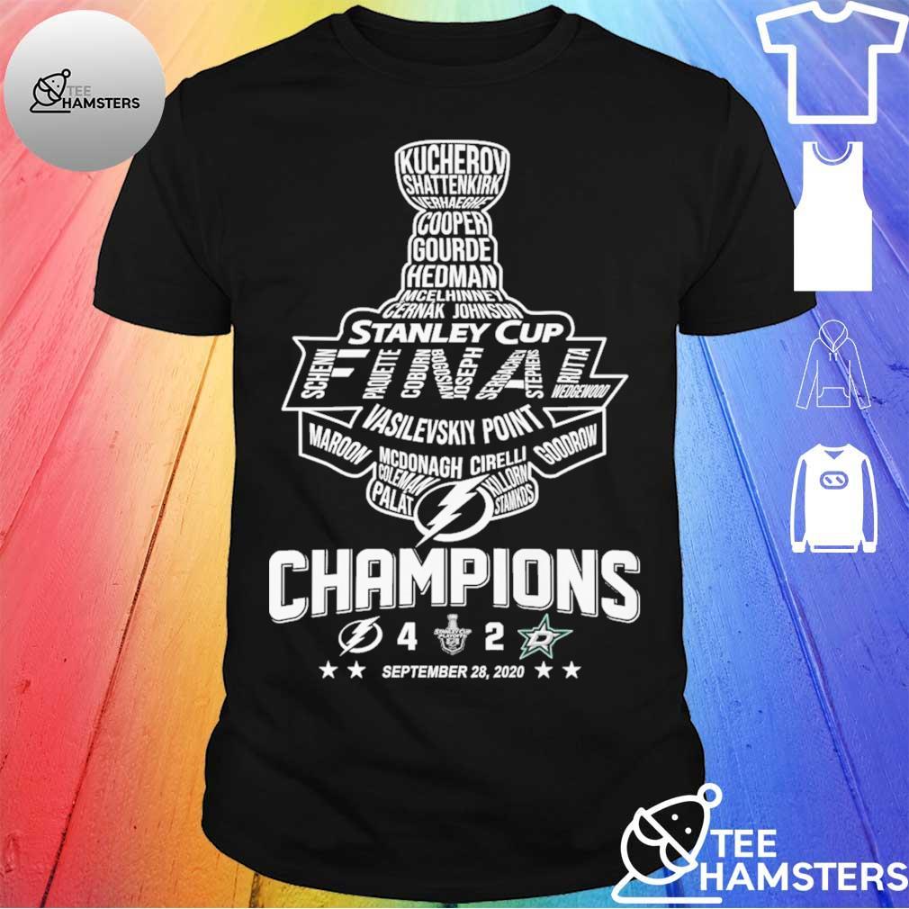 Stanley cup Vasilevskiy Point Champions September 28 2020 shirt