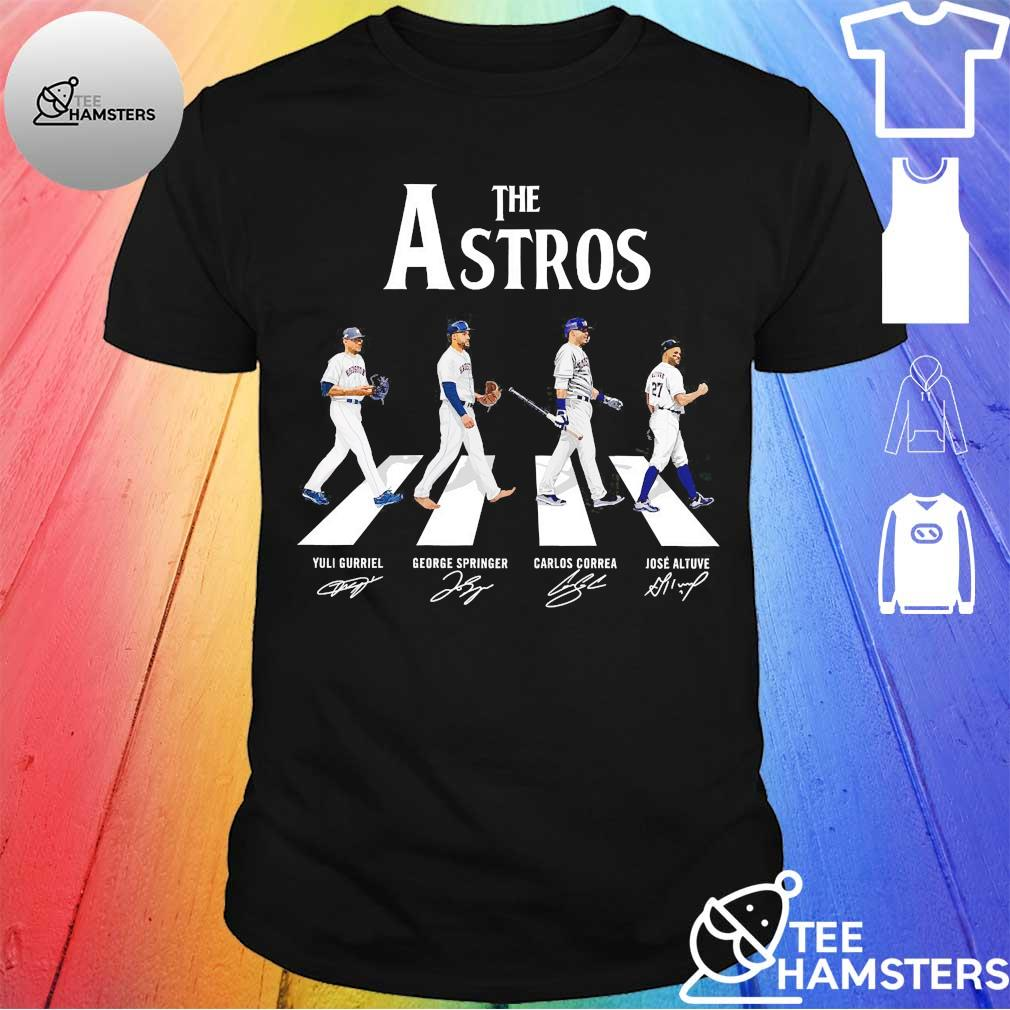 The Astros Houston abbey road signatures shirt