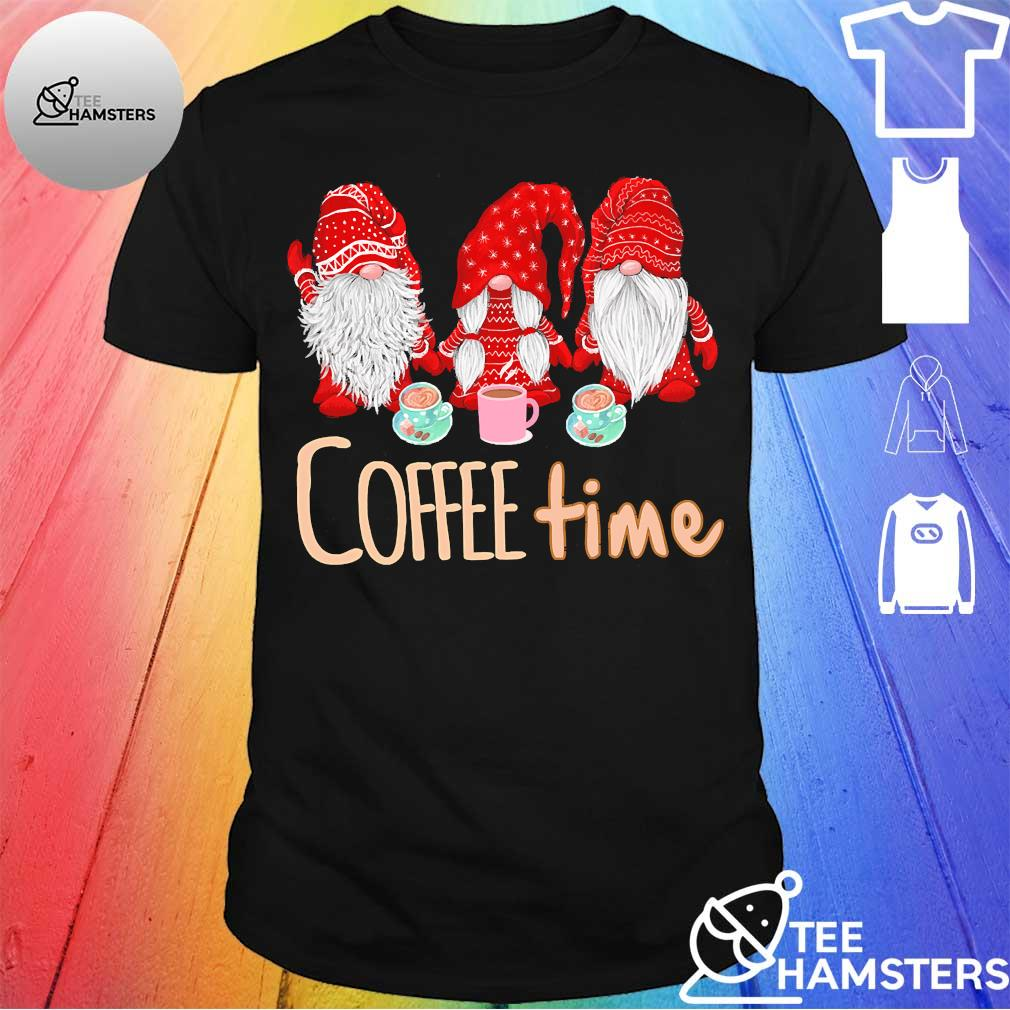 Three Gnomes red coffee time shirt