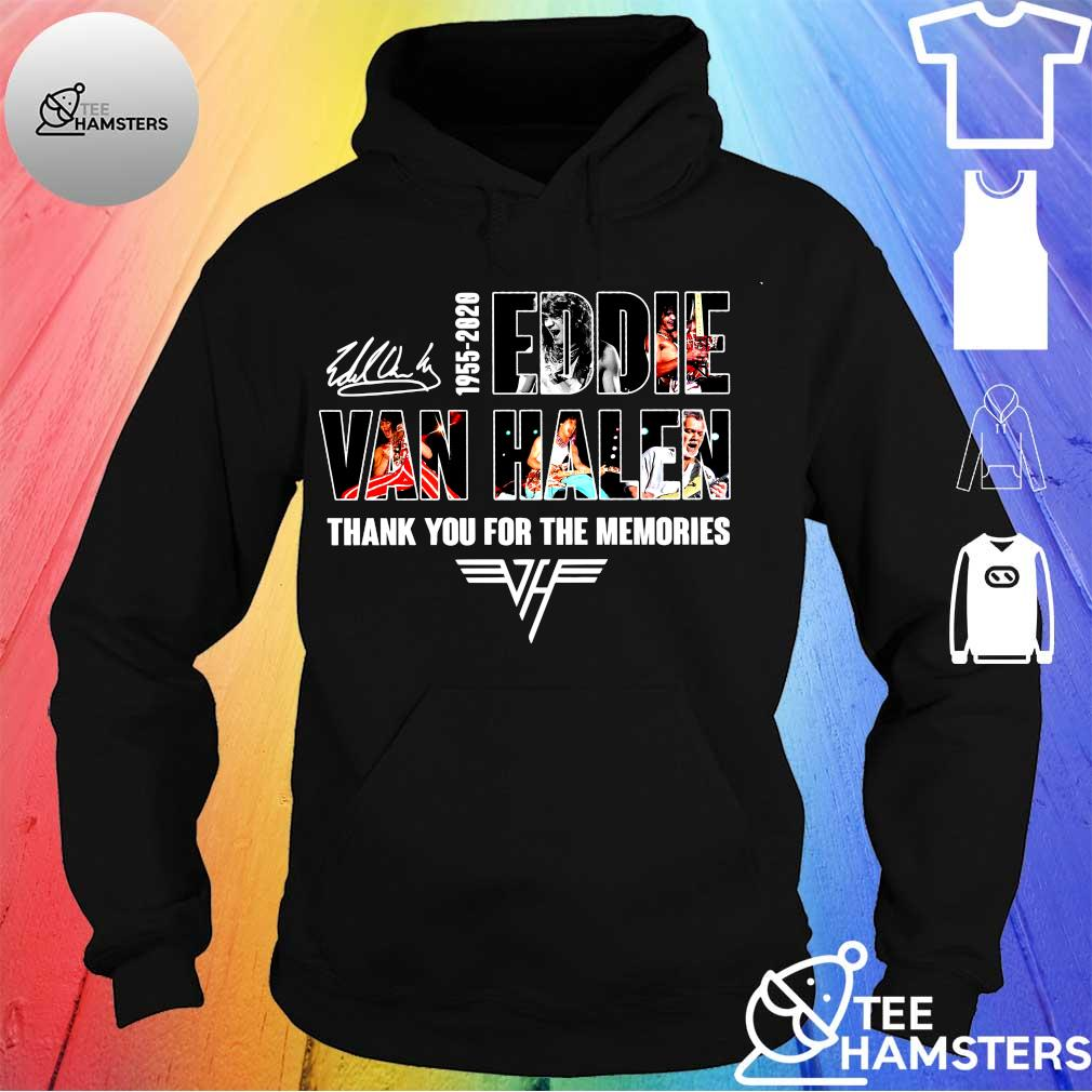 1955-2020 eddie van halen thank you for memories s hoodie