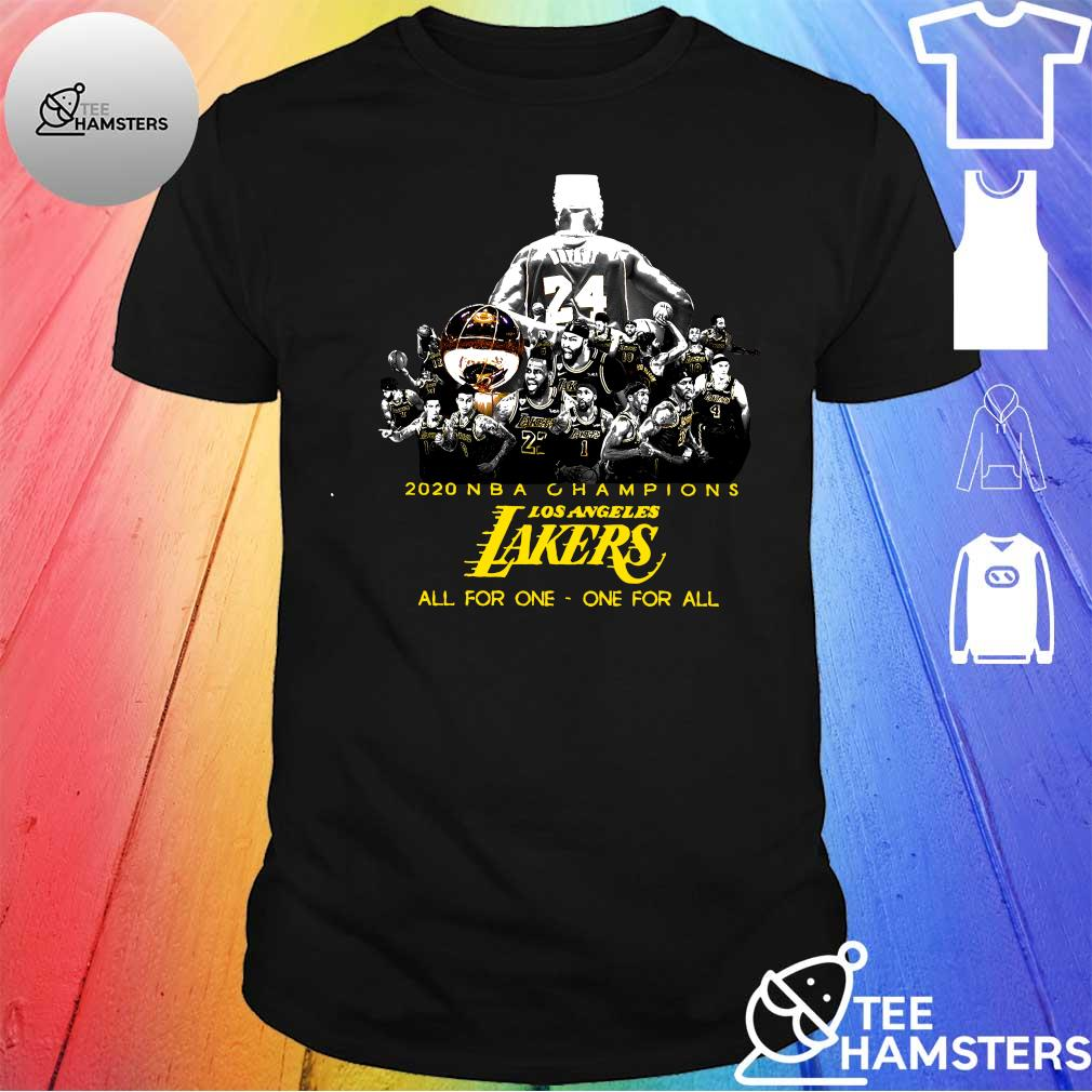 2020 nbn champions los angeles lakers all for one one for all shirt