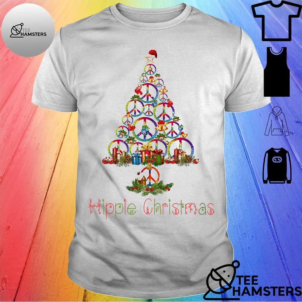 Hippie Christmas tree shirt