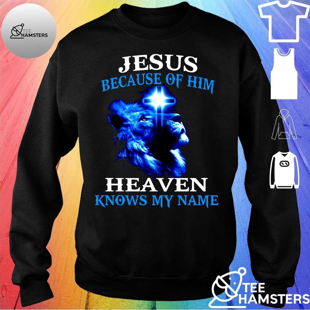 Jesus because of him lion heaven knows my name s sweater