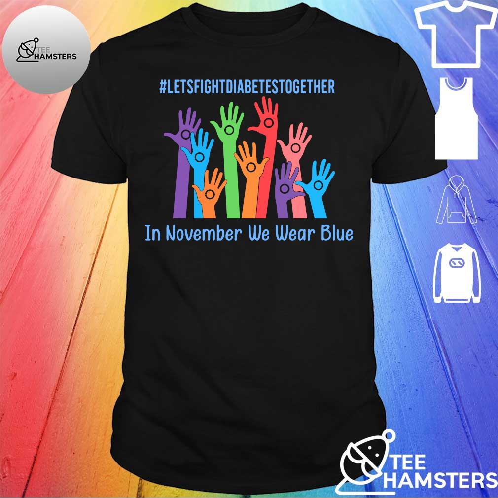 #Letsfightdiabettesstogether hand in november we wear blue shirt