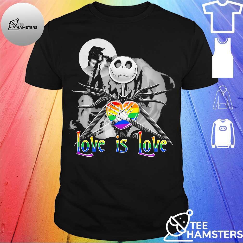 LGBT Jack Skellington Night before Love is love Halloween shirt