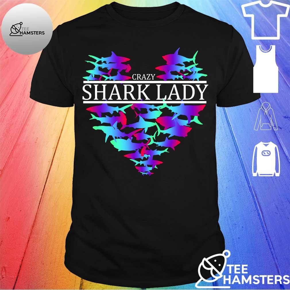 Crazy shark lady shirt