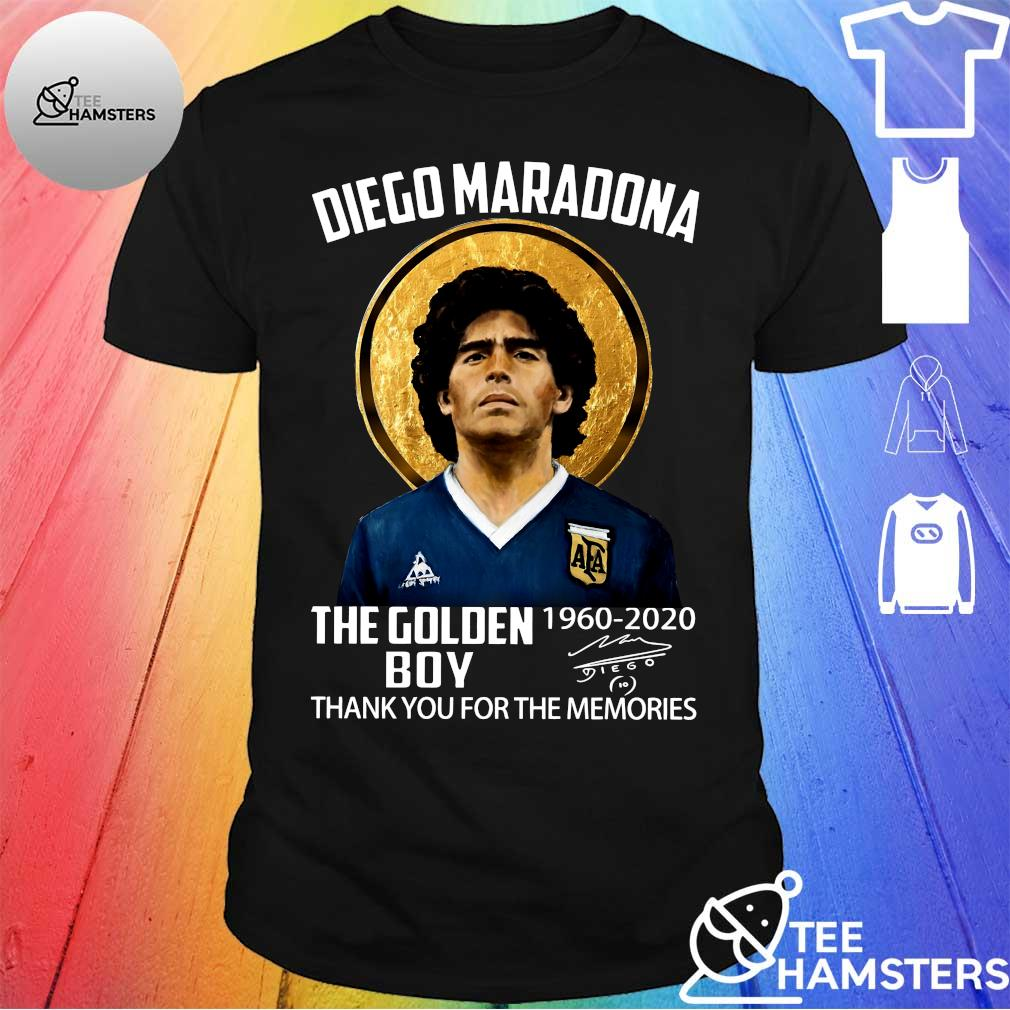 Diego maradona the golden 1960 - 2020 boy thank you for the memories shirt
