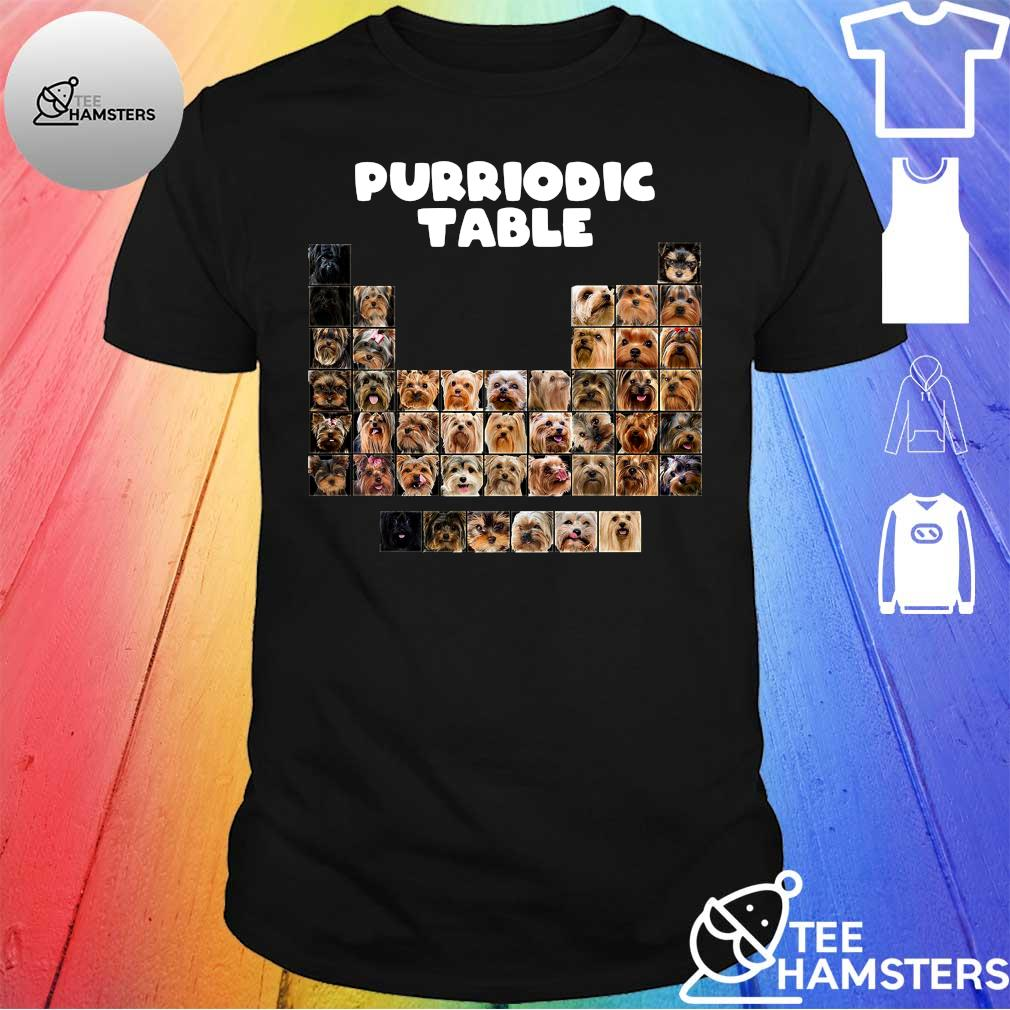 Dog periodic table shirt
