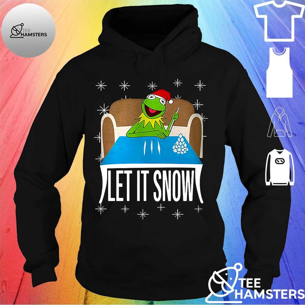 Frog let it snow christmas s hoodie