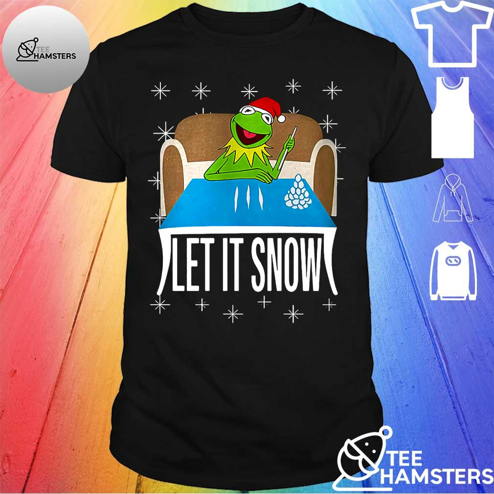 Frog let it snow christmas shirt