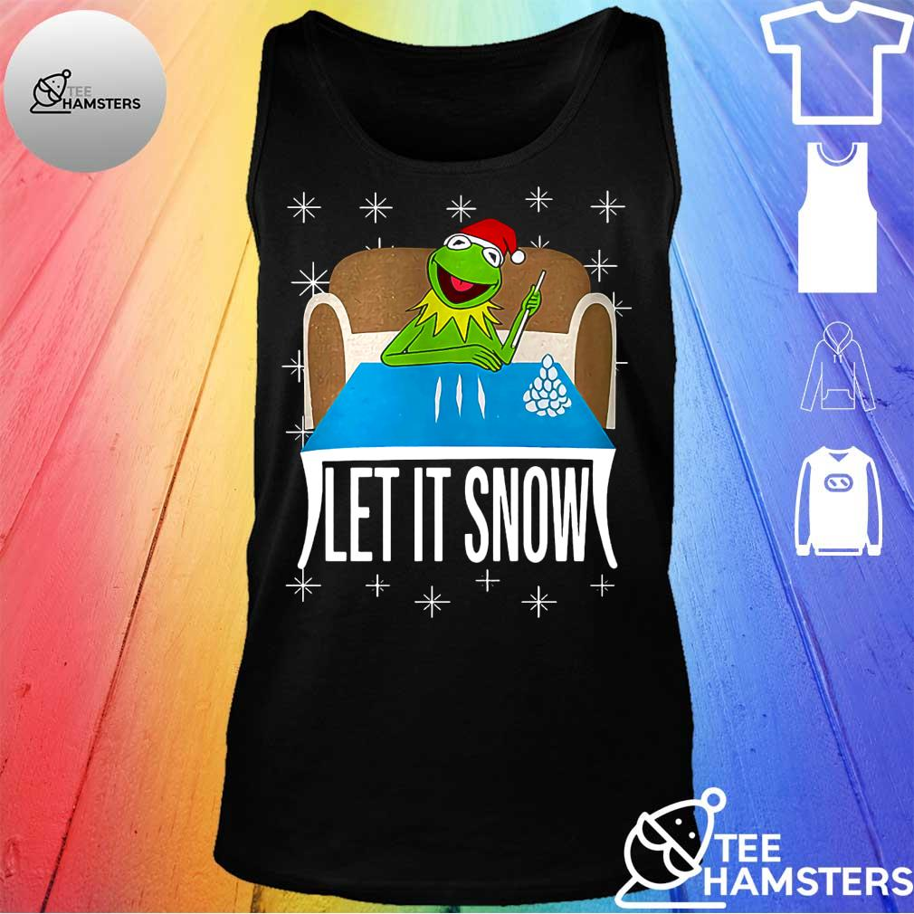 Frog let it snow christmas s tank top