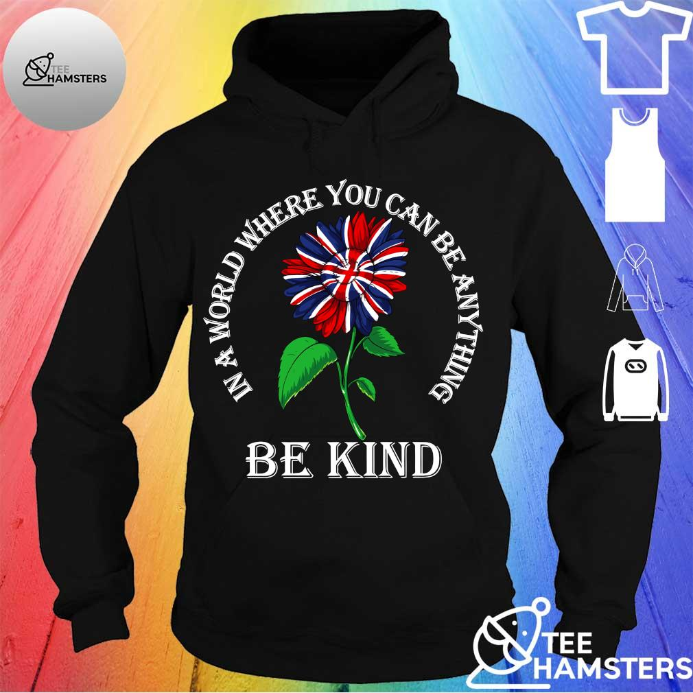 In a world where you can be anything be kind s hoodie